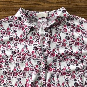 JUST LIVING Summer Floral XL Long Sleeve Button Up